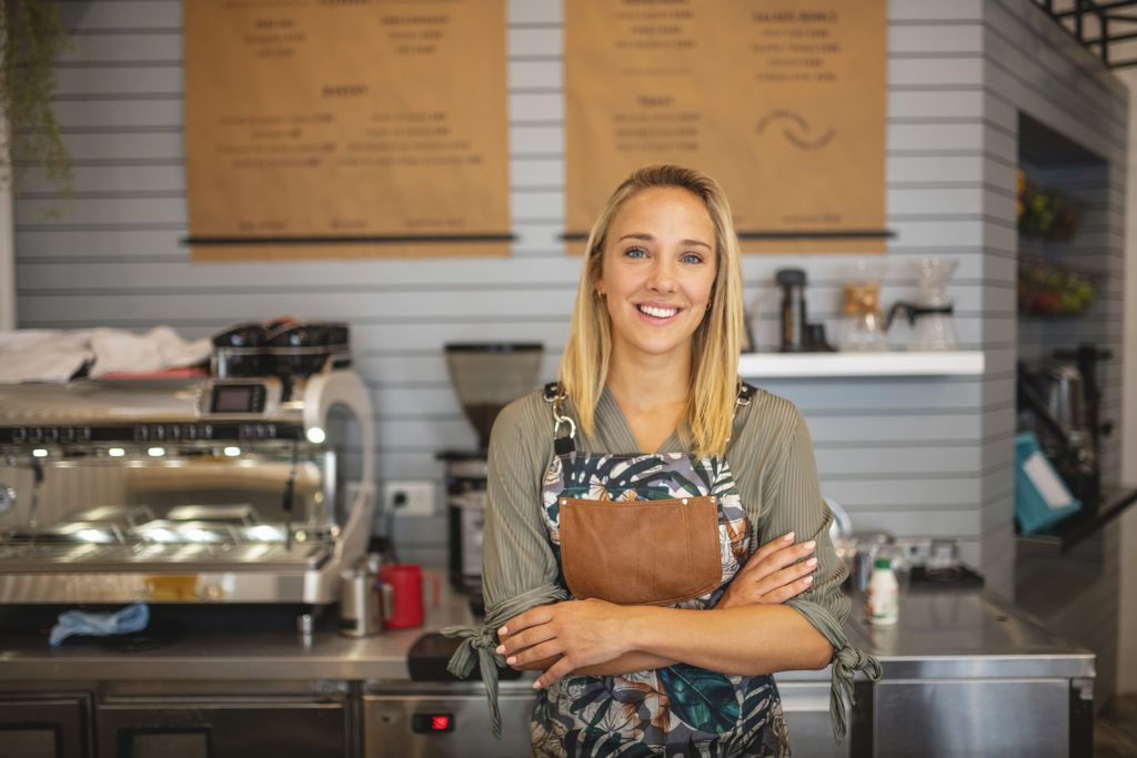 Women arms crossed small business owner