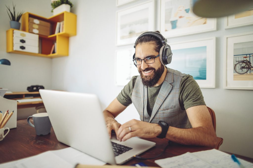 Business owner working from home
